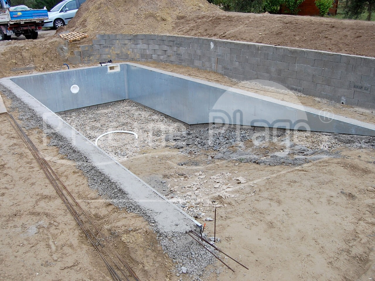 Notre technique de construction piscine plage for Construction piscine beton technique